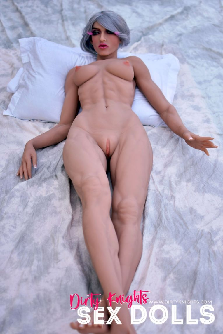 Star Muscular Sex Doll Posing for photos with Dirty Knights Sex Dolls (2)