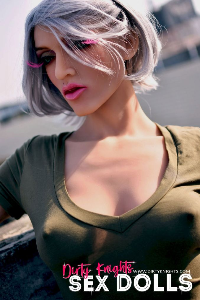 Star Muscular Sex Doll Posing for photos with Dirty Knights Sex Dolls (39)