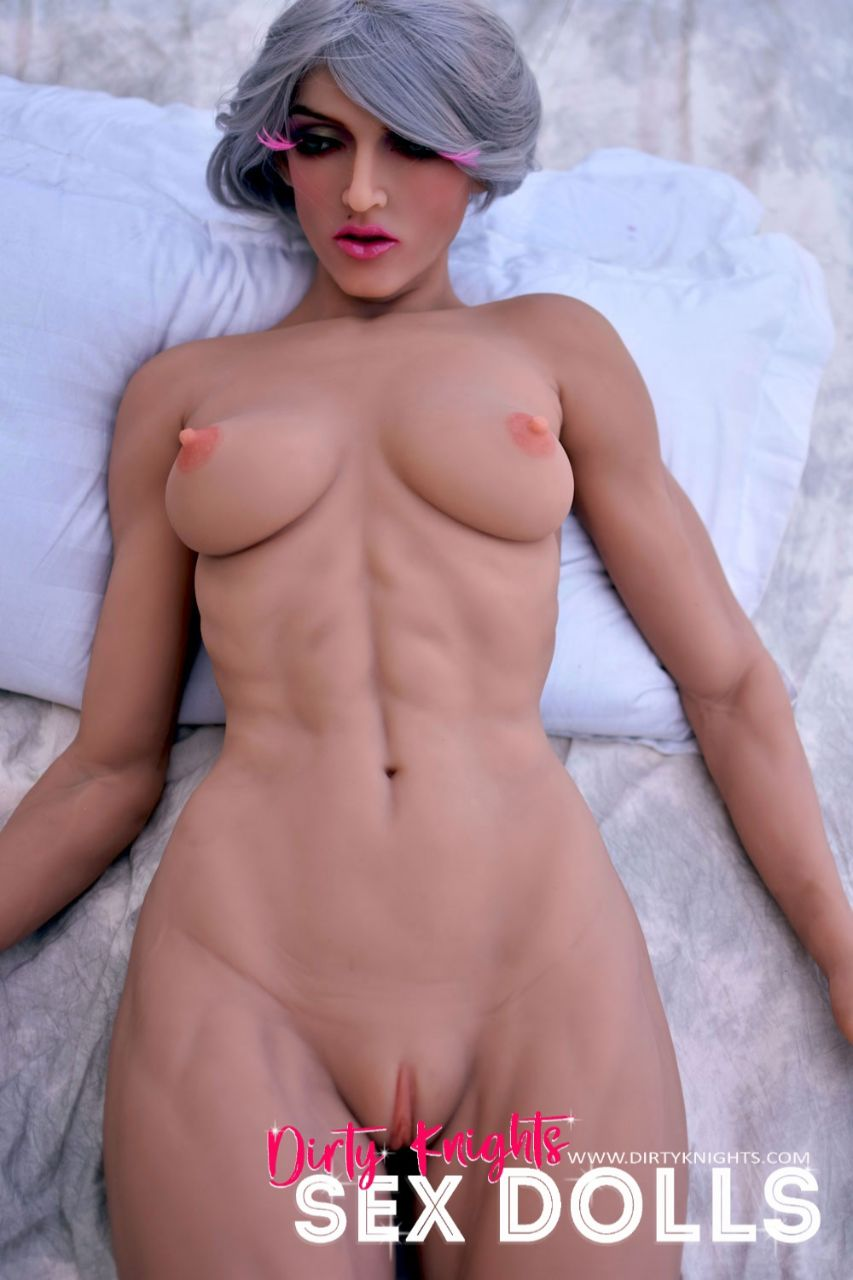 Star Muscular Sex Doll Posing for photos with Dirty Knights Sex Dolls (4)