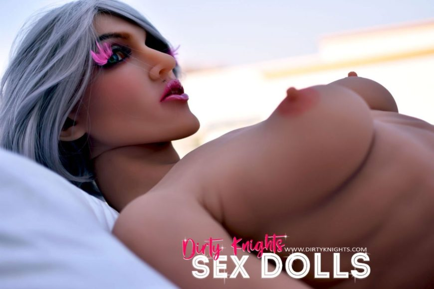 Star Muscular Sex Doll Posing for photos with Dirty Knights Sex Dolls (8)