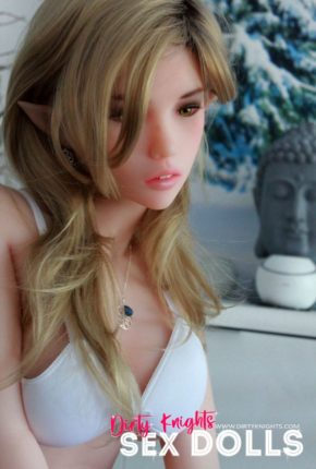 Dirty Knights Sex Dolls Dora elf sex doll posing nude on bed for photoshoot (13)