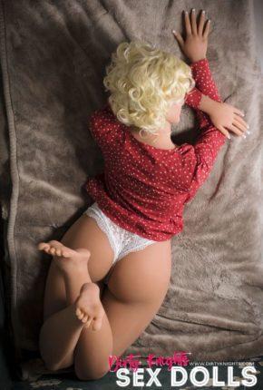 Hazel sex doll posing nude for Dirty Knights Sex Dolls website (21)