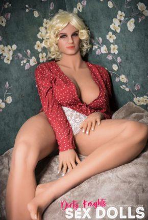 Hazel sex doll posing nude for Dirty Knights Sex Dolls website (24)