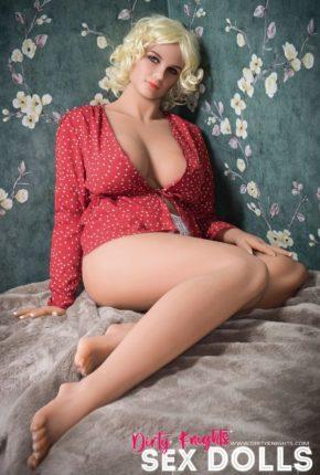 Hazel sex doll posing nude for Dirty Knights Sex Dolls website (29)
