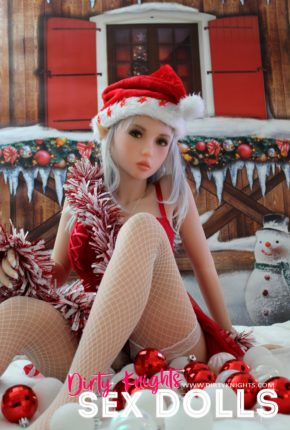 Dora Sex Doll posing for a sex doll Christmas at a Dirty Knights photoshoot 3