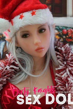 Dora Sex Doll posing for a sex doll Christmas at a Dirty Knights photoshoot 6
