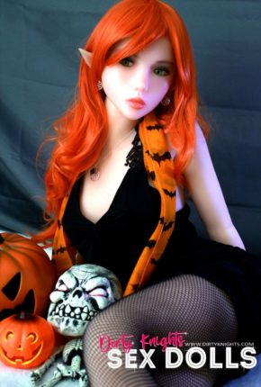 Sex Doll Dora Elf from Dirty Knights Sex Dolls posing in her Halloween outfit (13)
