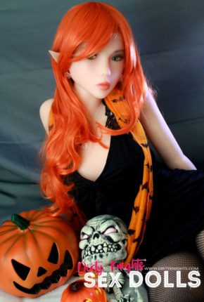 Sex Doll Dora Elf from Dirty Knights Sex Dolls posing in her Halloween outfit (16)