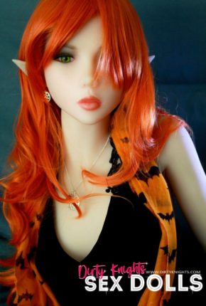 Sex Doll Dora Elf from Dirty Knights Sex Dolls posing in her Halloween outfit (18)