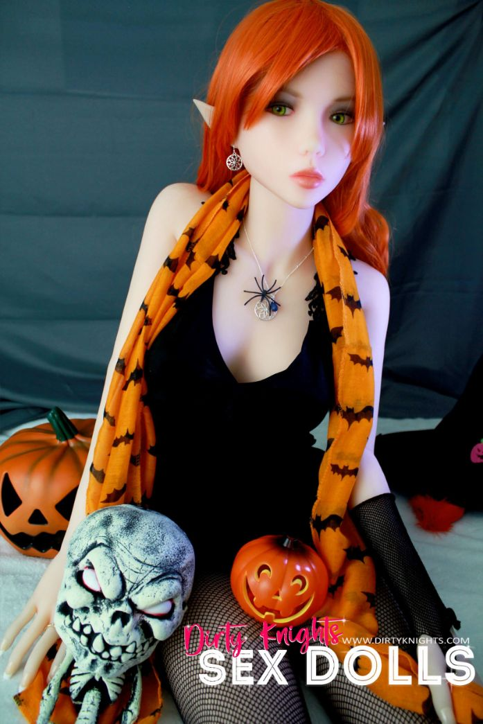 Sex Doll Dora Elf from Dirty Knights Sex Dolls posing in her Halloween outfit (19)