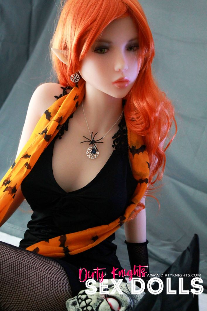 Sex Doll Dora Elf from Dirty Knights Sex Dolls posing in her Halloween outfit (25)
