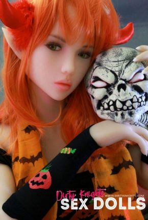 Sex Doll Dora Elf from Dirty Knights Sex Dolls posing in her Halloween outfit (4)