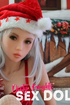 Dora Sex Doll posing for a sex doll Christmas at a Dirty Knights photoshoot 14
