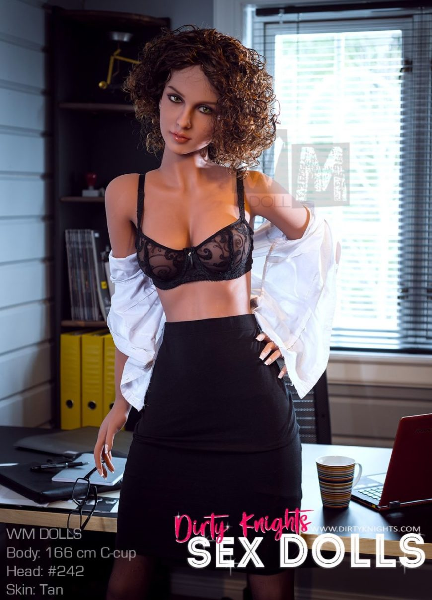 Beautiful sex doll created for Dirty Knights Sex Dolls posing nude at office (1)