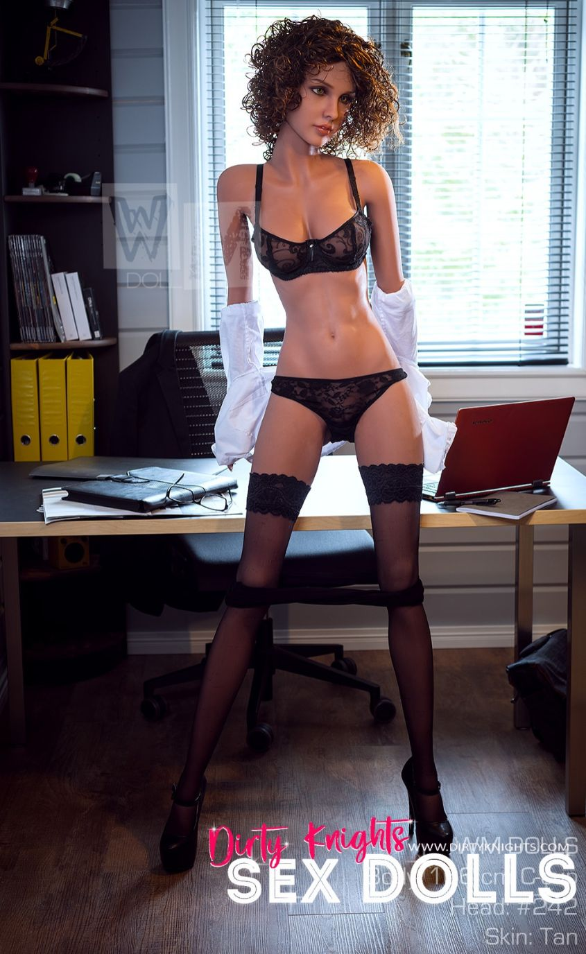 Beautiful sex doll created for Dirty Knights Sex Dolls posing nude at office (11)