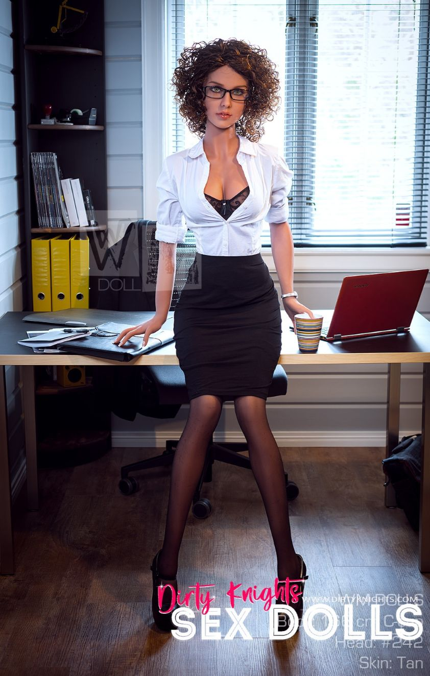 Beautiful sex doll created for Dirty Knights Sex Dolls posing nude at office (21)