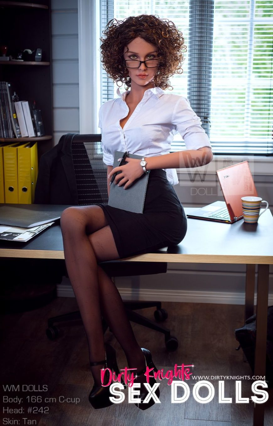Beautiful sex doll created for Dirty Knights Sex Dolls posing nude at office (23)
