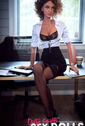 Beautiful sex doll created for Dirty Knights Sex Dolls posing nude at office (24)