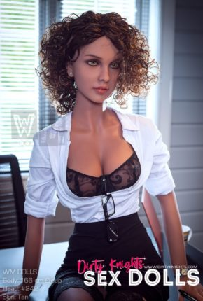 Beautiful sex doll created for Dirty Knights Sex Dolls posing nude at office (25)