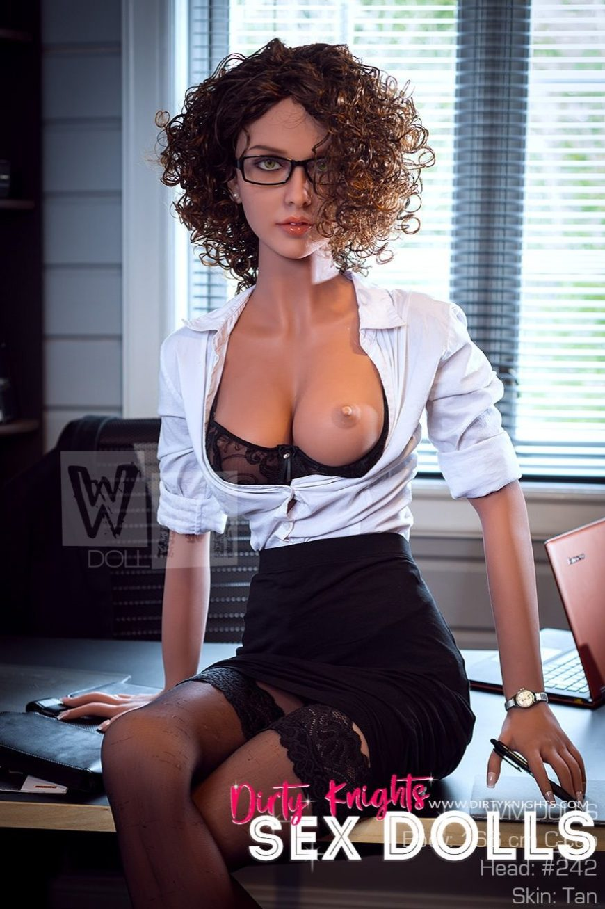 Beautiful sex doll created for Dirty Knights Sex Dolls posing nude at office (26)