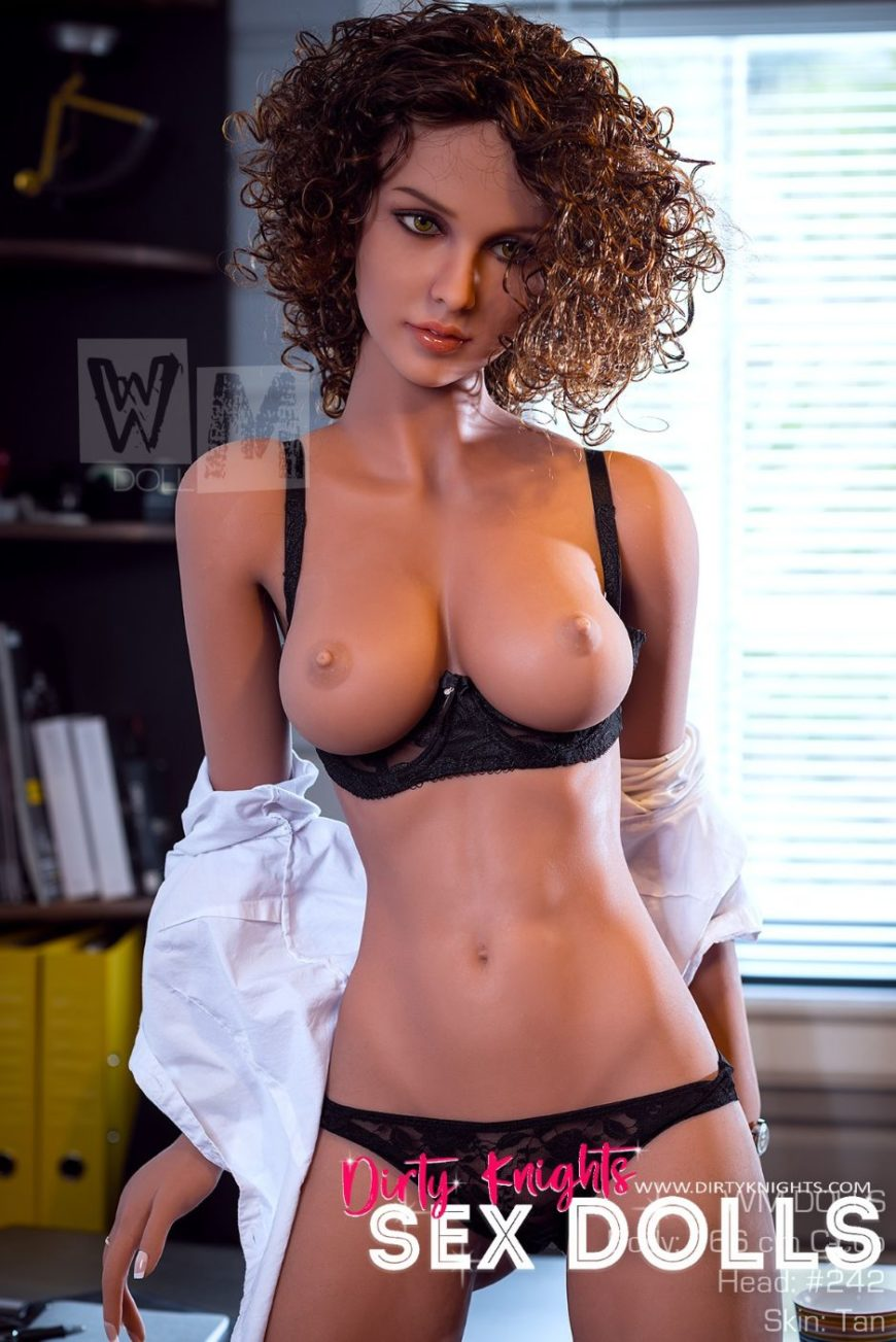 Beautiful sex doll created for Dirty Knights Sex Dolls posing nude at office (6)