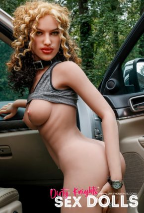 Sex Doll Erica from Dirty Knights Sex Dolls posing nude by her car (25)