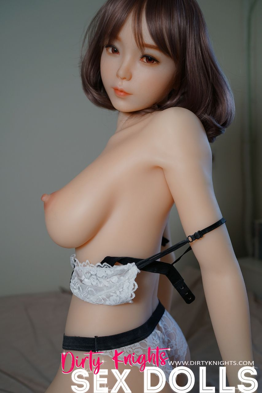 Akira silicone sex doll posing sexy before shower for Dirty Knights Sex Dolls website (8)